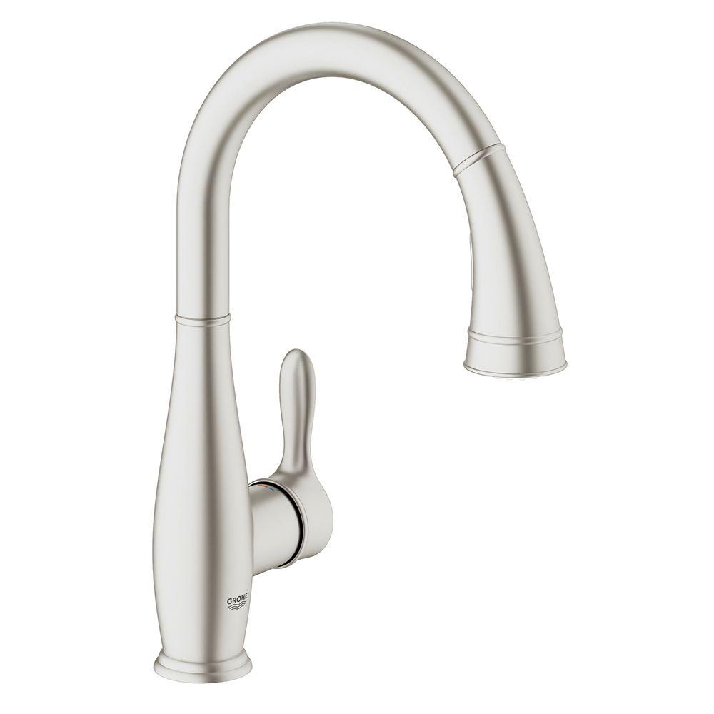 Ideas, grohe parkfield single hole pull out kitchen faucet grohe parkfield single hole pull out kitchen faucet grohe parkfield single handle pull down sprayer kitchen faucet 1000 x 1000  .