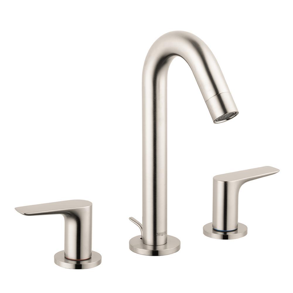 Ideas, hansgrohe logis 150 8 in widespread 2 handle bathroom faucet with regarding size 1000 x 1000  .