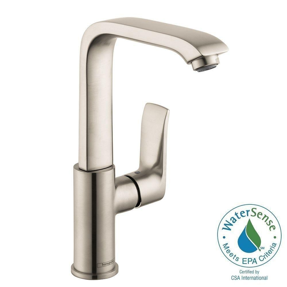 hansgrohe metris e 230 single hole 1 handle high arc bathroom intended for measurements 1000 x 1000