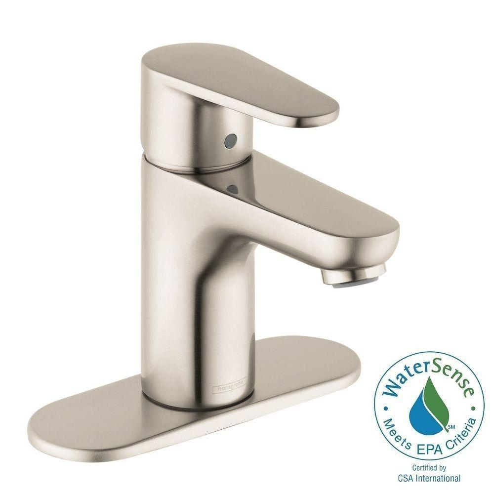 Ideas, hansgrohe talis e2 single hole 1 handle bathroom faucet in brushed with regard to sizing 1000 x 1000  .
