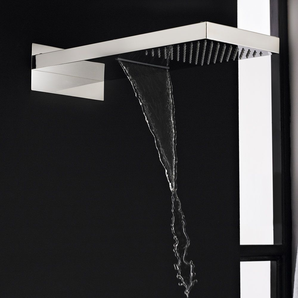 Ideas, hudson reed shower faucets hudson reed shower faucets chrome rectangular shower head with waterfall 1000 x 1000  .
