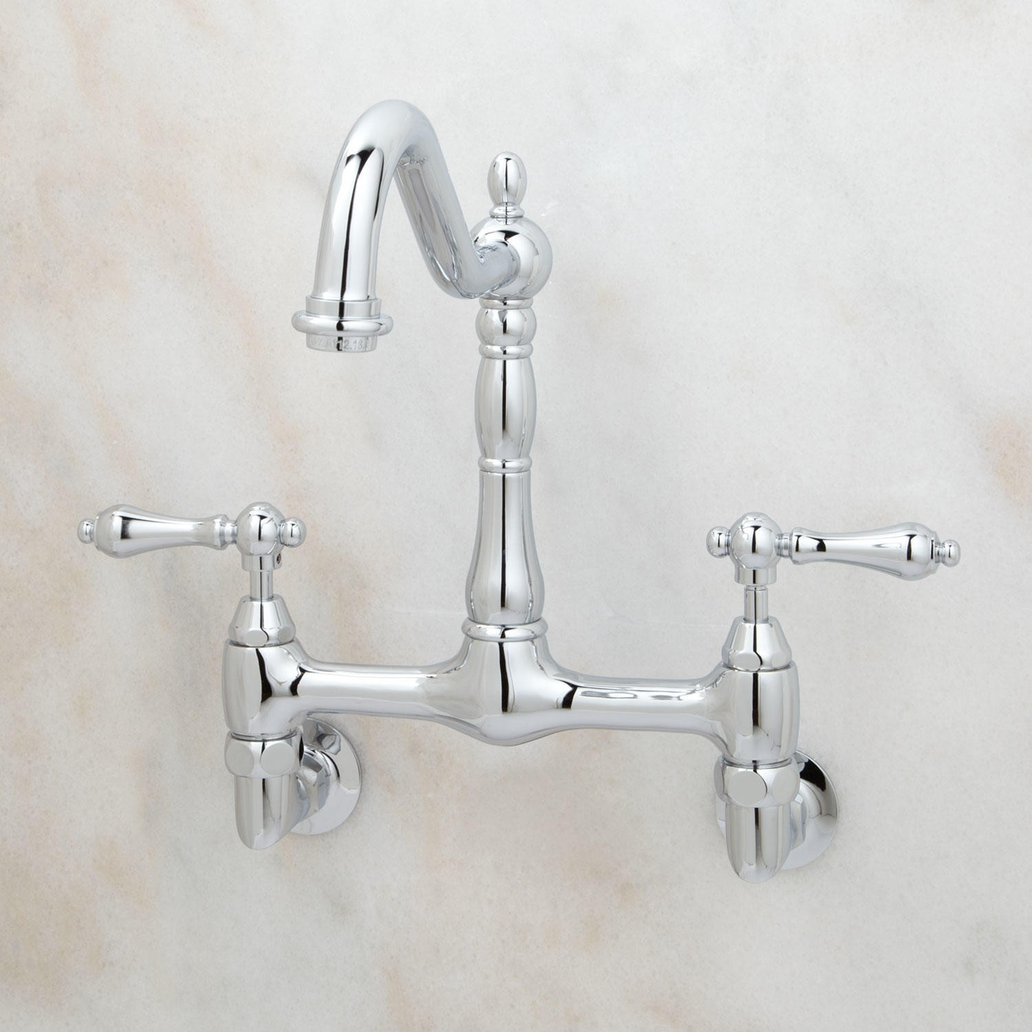 Unlacquered Brass Wall Mount Kitchen Faucet