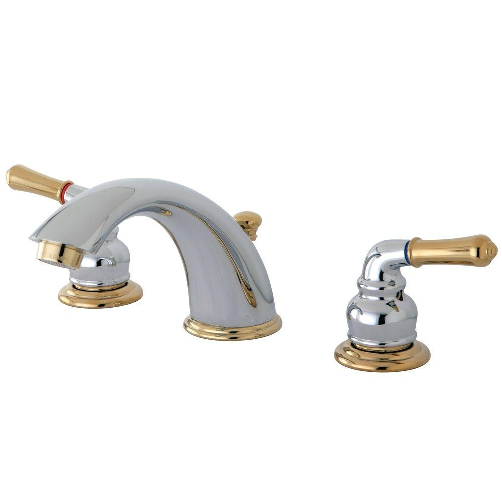 Delta Chrome And Polished Brass Bathroom Faucets