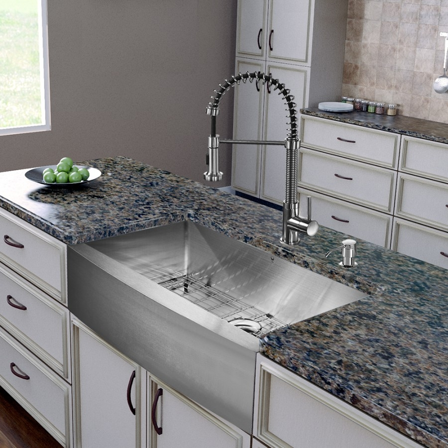 Ideas, kitchen convenient cleaning with stainless steel farm sink with measurements 900 x 900  .