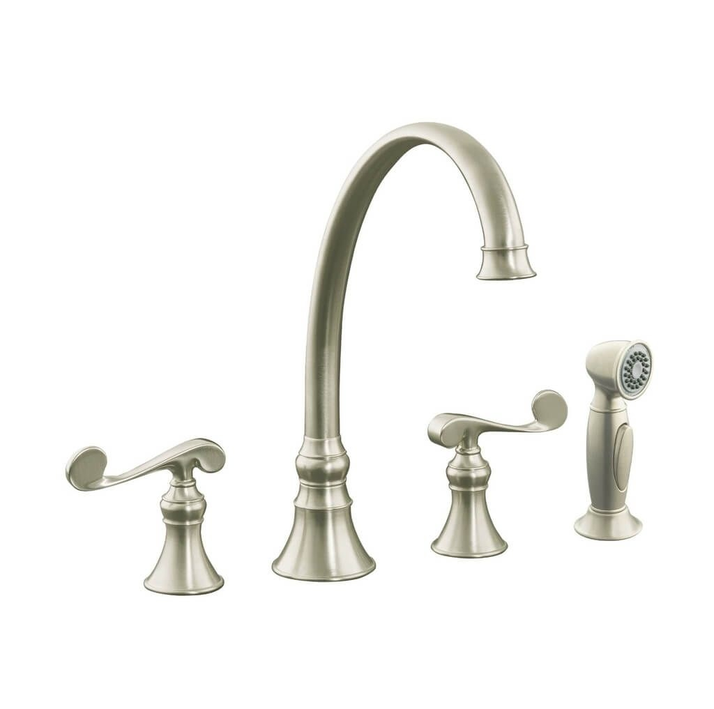 Ideas, kitchen design brushed nickel kitchen faucet with two handles and throughout size 1024 x 1017  .