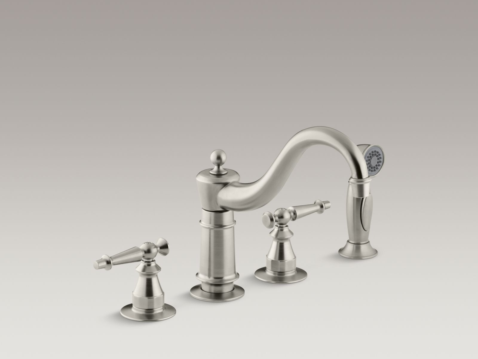 Ideas, kitchen elegant brushed nickel kitchen faucet for your kitchen in measurements 1600 x 1200  .