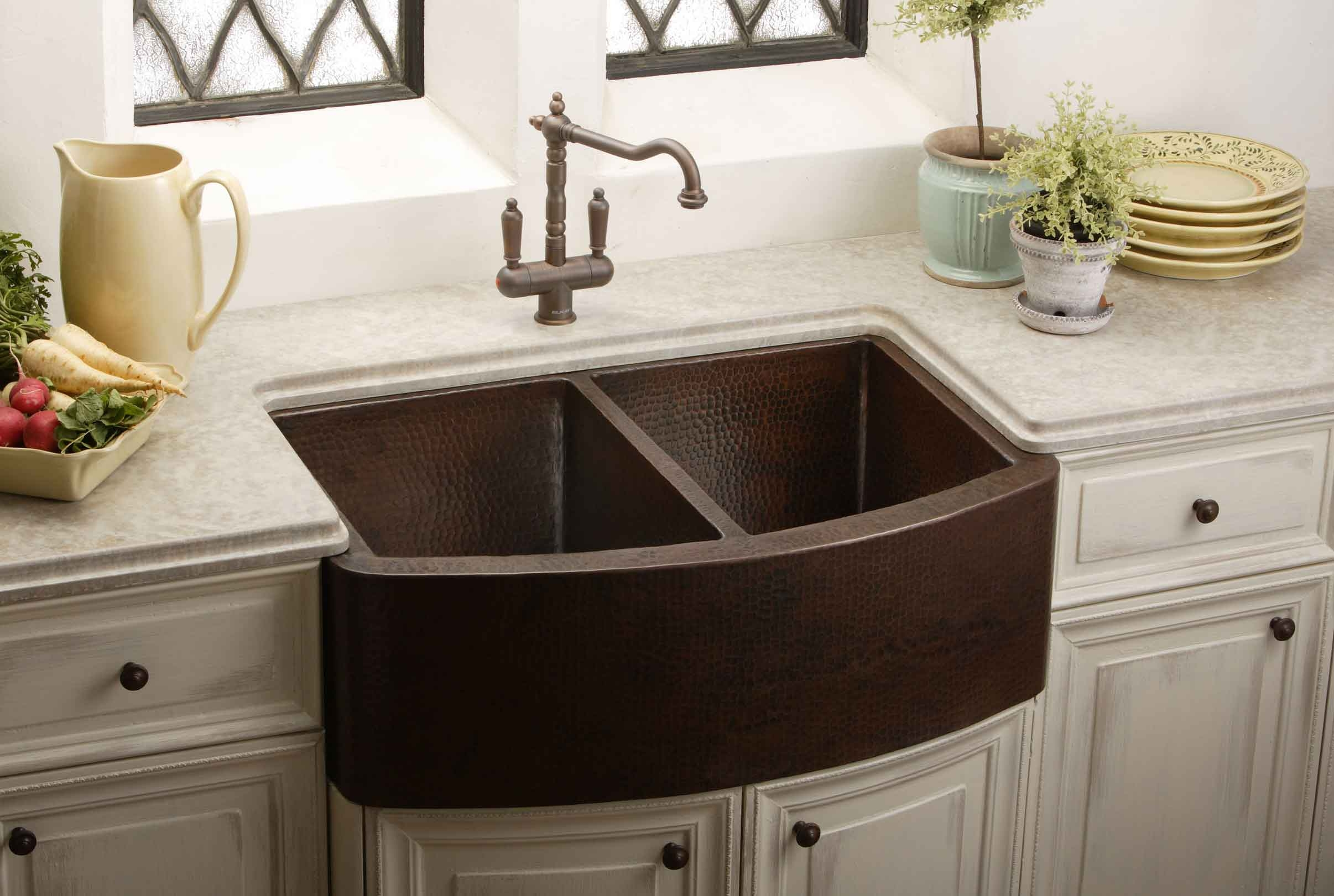 Bronze Faucet With Stainless Steel Sink Pictures