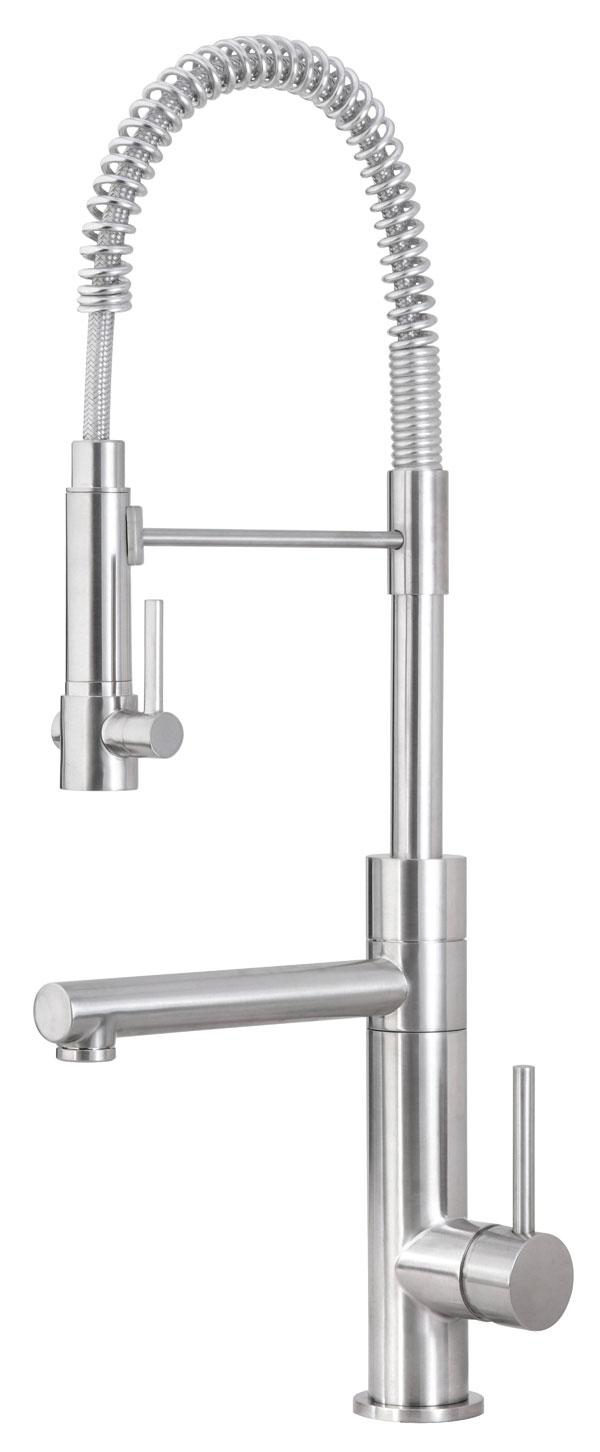 Ideas, kitchen moen 4570 faucet repair giagni fresco stainless steel 1 for proportions 600 x 1452  .