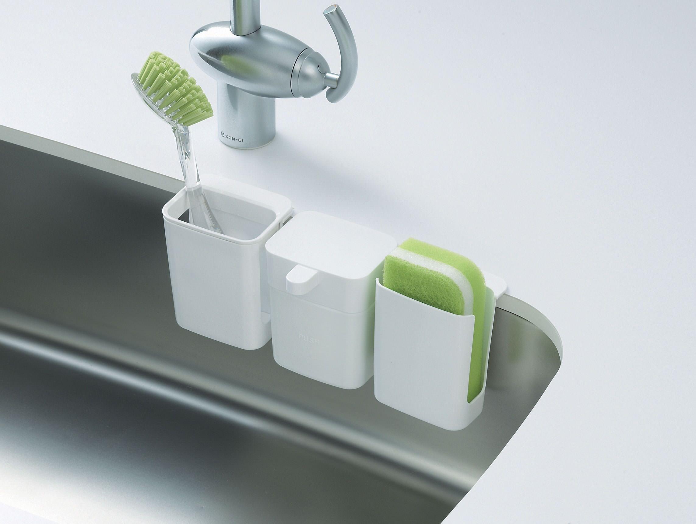 Ideas, kitchen sinks sponge brush holder kitchen sink backup main line intended for dimensions 2286 x 1721  .