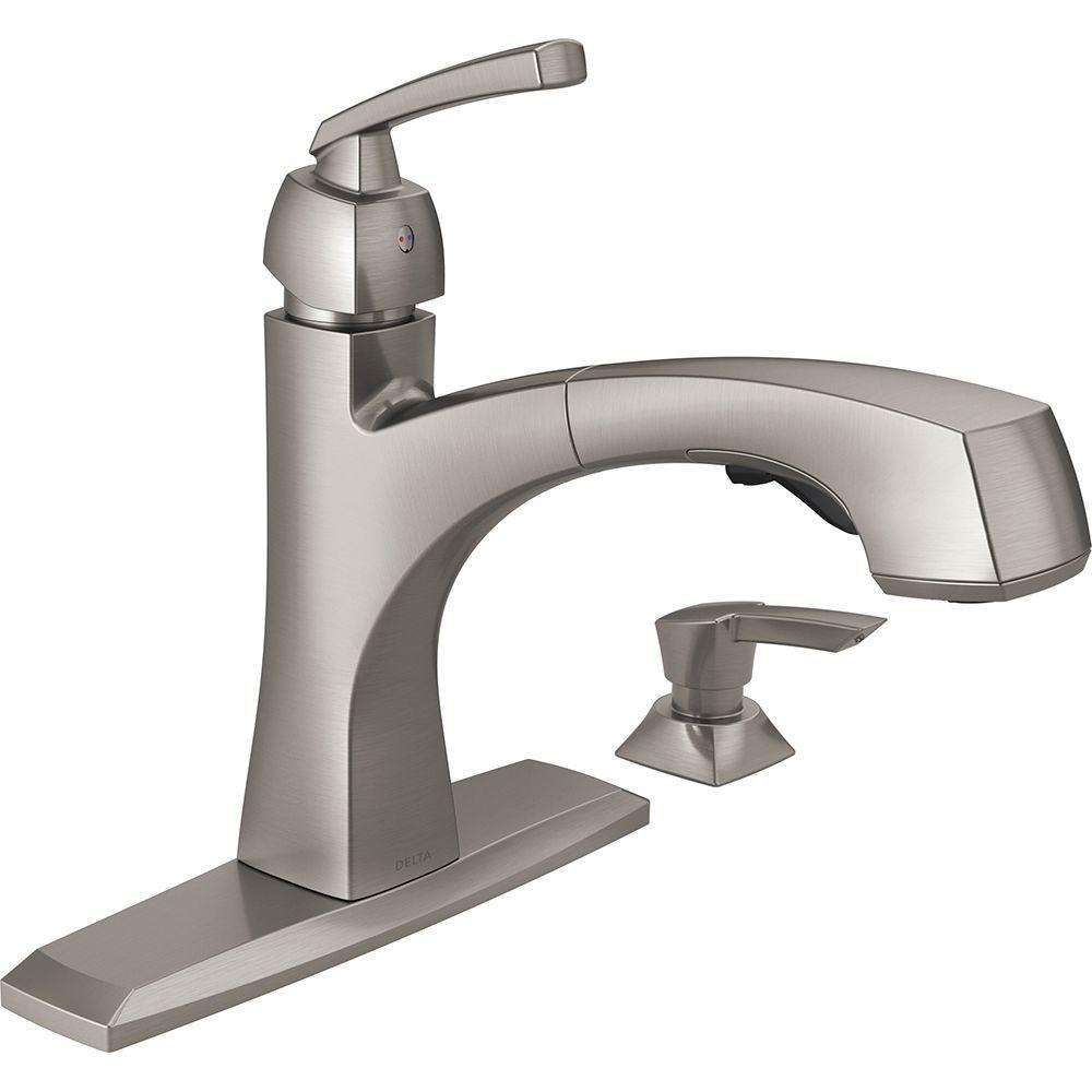 Ideas, kohler kitchen faucets with soap dispenser kohler kitchen faucets with soap dispenser delta montauk single handle pull out sprayer kitchen faucet with 1000 x 1000  .