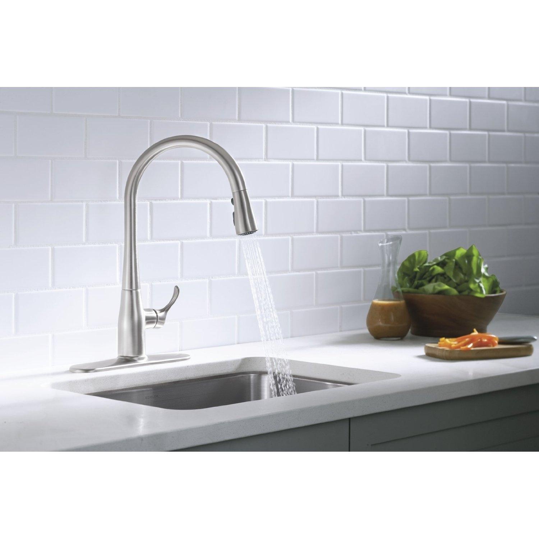 Ideas, kohler kitchen sink faucets white kohler kitchen sink faucets white dining kitchen make your kitchen looks elegant with lavish 1500 x 1500  .