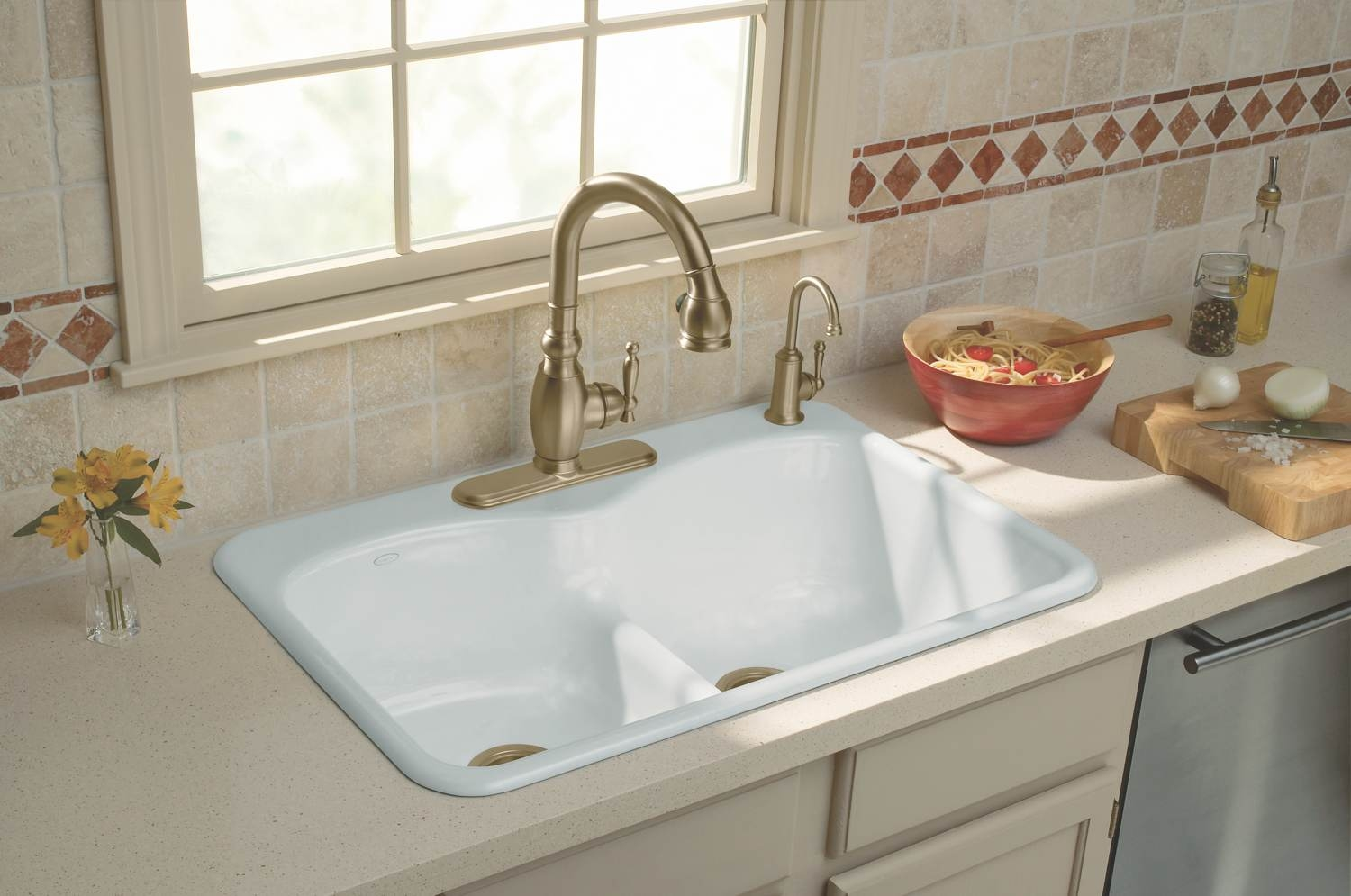 Ideas, kohler kitchen sink faucets white kohler kitchen sink faucets white modern kitchen island design with endearing mico faucets designs 1500 x 995  .