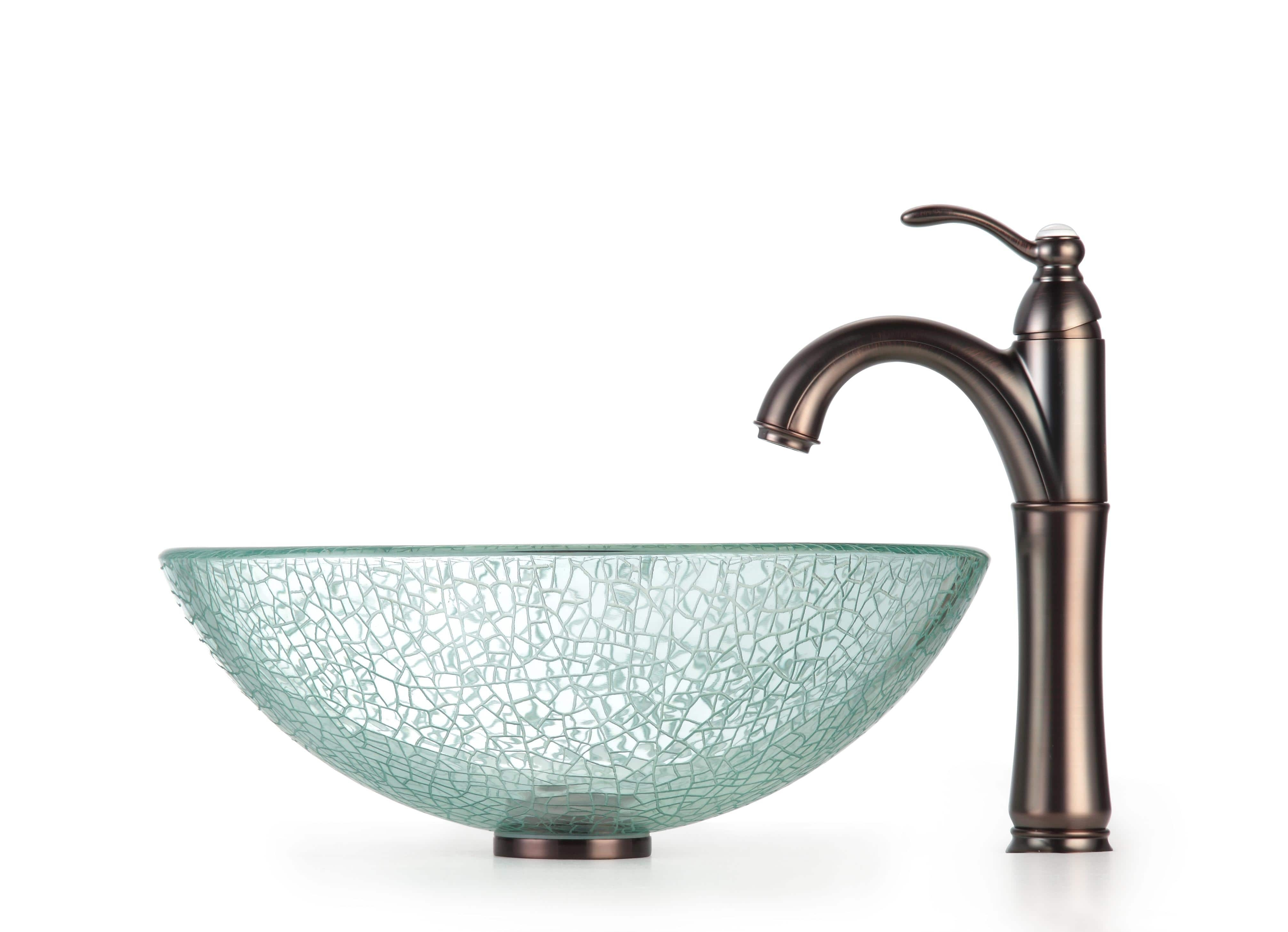 kraus bathroom combo set broken glass vessel sinkrivera faucet regarding sizing 4026 x 2914