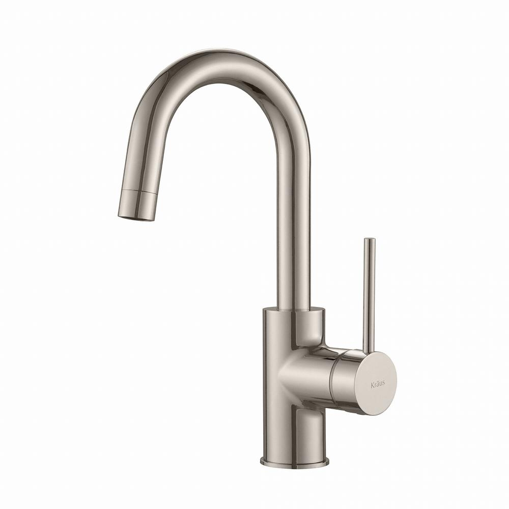 kraus oletto single handle kitchen bar faucet in stainless steel in measurements 1000 x 1000