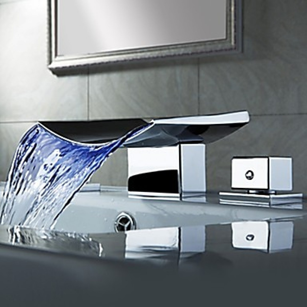 Ideas, led waterfall faucets for vessel sinks led waterfall faucets for vessel sinks bathroom fabulous waterfall faucet for bathroom 1200 x 1200 1  .