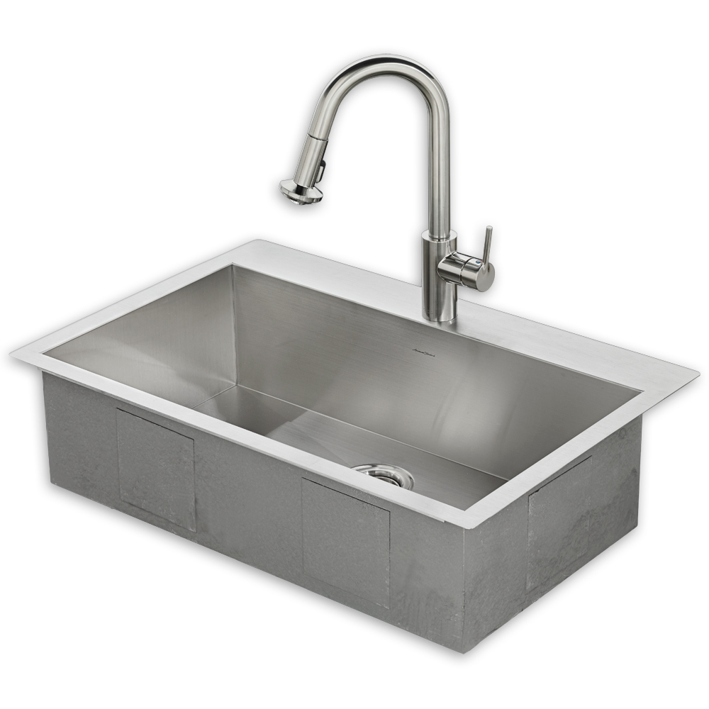 Ideas, memphis 33x22 kitchen sink kit with faucet american standard pertaining to size 1000 x 1000  .