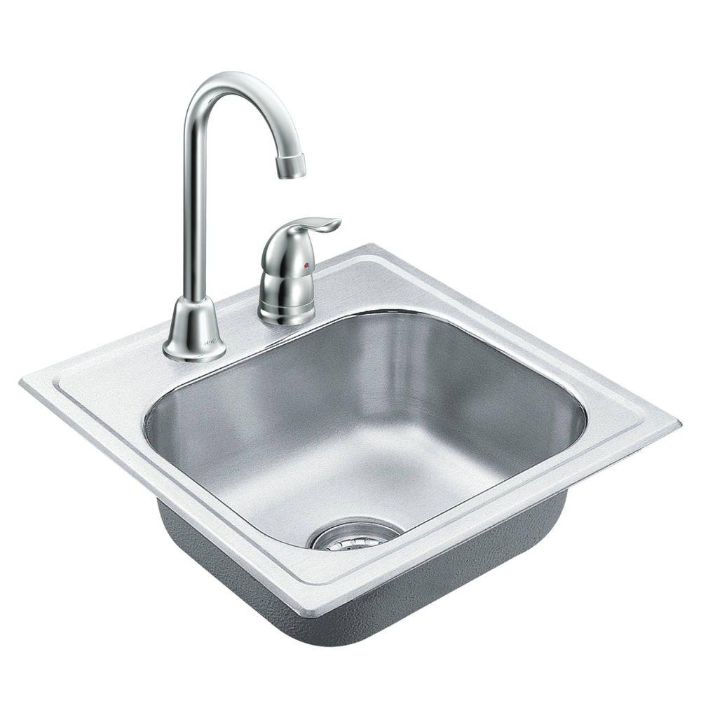 moen 2000 series drop in stainless steel 15 in 2 hole single in size 1000 x 1000
