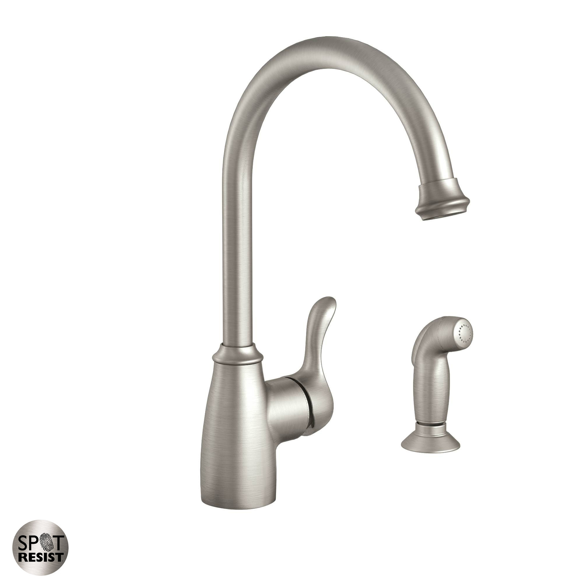 Ideas, moen 87313srs spot resist stainless kitchen faucet with side spray within proportions 2000 x 2000  .