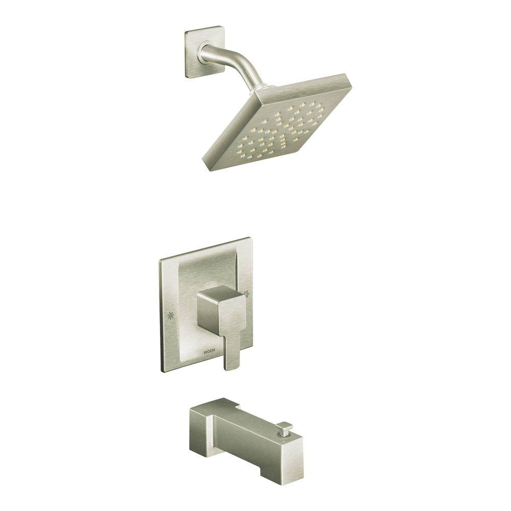 Ideas, moen 90 degree posi temp 1 handle tub and shower trim kit in pertaining to sizing 1000 x 1000  .