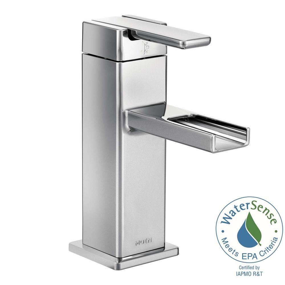 moen 90 degree single hole 1 handle mid arc lavatory faucet in inside measurements 1000 x 1000