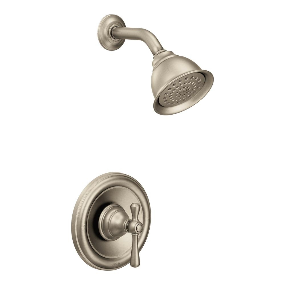 Ideas, moen adler shower faucet brushed nickel moen adler shower faucet brushed nickel moen kingsley single handle 1 spray shower faucet trim kit only in 1000 x 1000  .