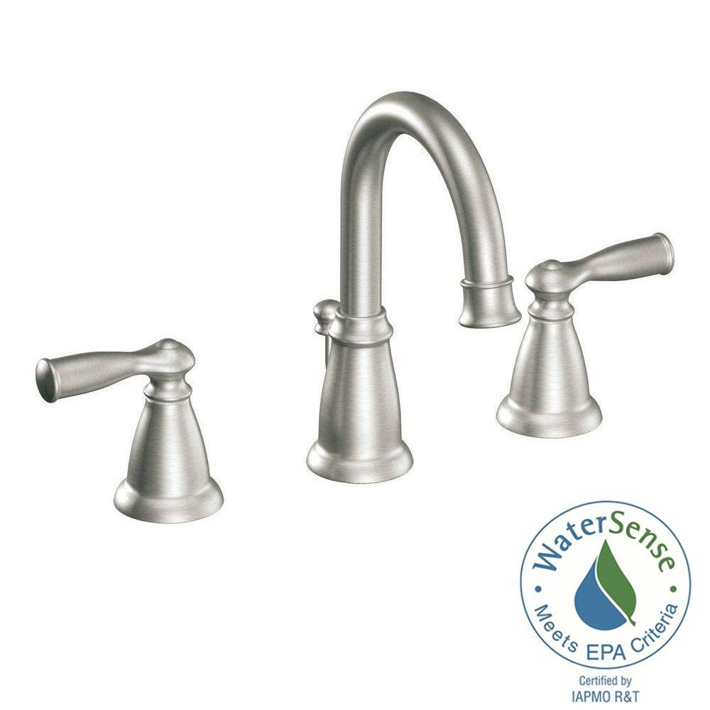 Ideas, moen banbury 8 in widespread 2 handle high arc bathroom faucet in with dimensions 1000 x 1000 1  .