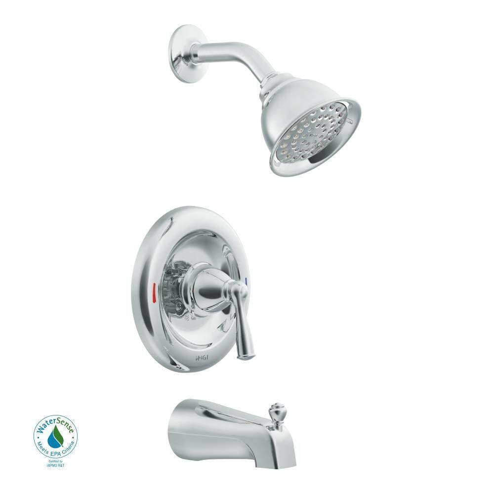 Ideas, moen banbury single handle 1 spray tub and shower faucet with intended for dimensions 1000 x 1000  .