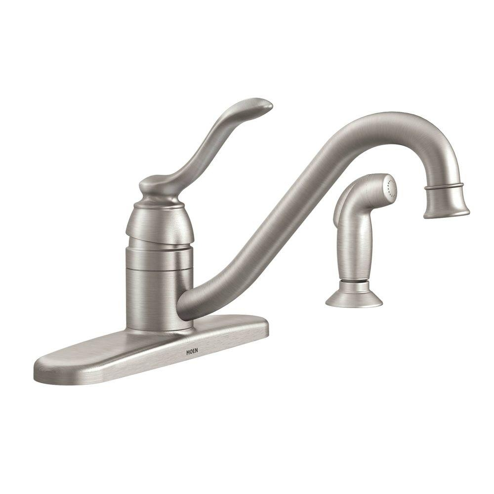 Ideas, moen banbury single handle standard kitchen faucet with side intended for size 1000 x 1000  .