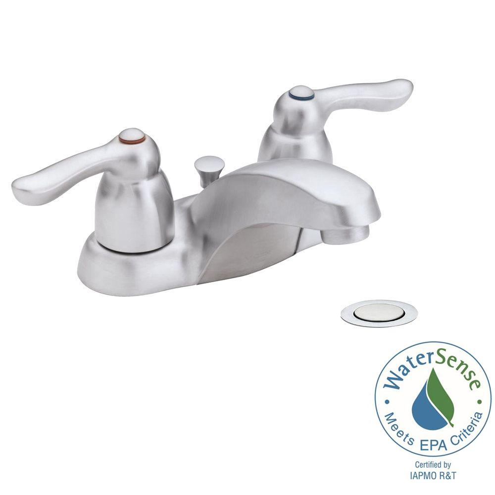 Ideas, moen brushed chrome bathroom faucets moen brushed chrome bathroom faucets moen chateau 4 in 2 handle low arc bathroom faucet in brushed 1000 x 1000  .