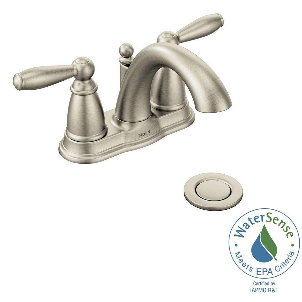 moen caldwell bathroom faucet brushed nickel moen caldwell bathroom faucet brushed nickel moen brantford 4 in centerset 2 handle low arc bathroom faucet in 1000 x 1000