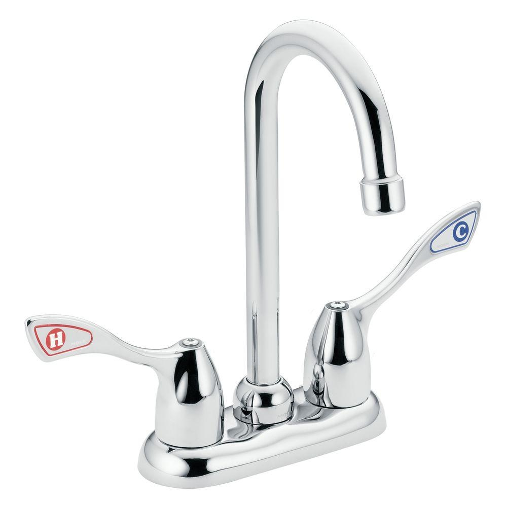 Ideas, moen chateau 2 handle high arc bar faucet in chrome 4903 the within sizing 1000 x 1000  .