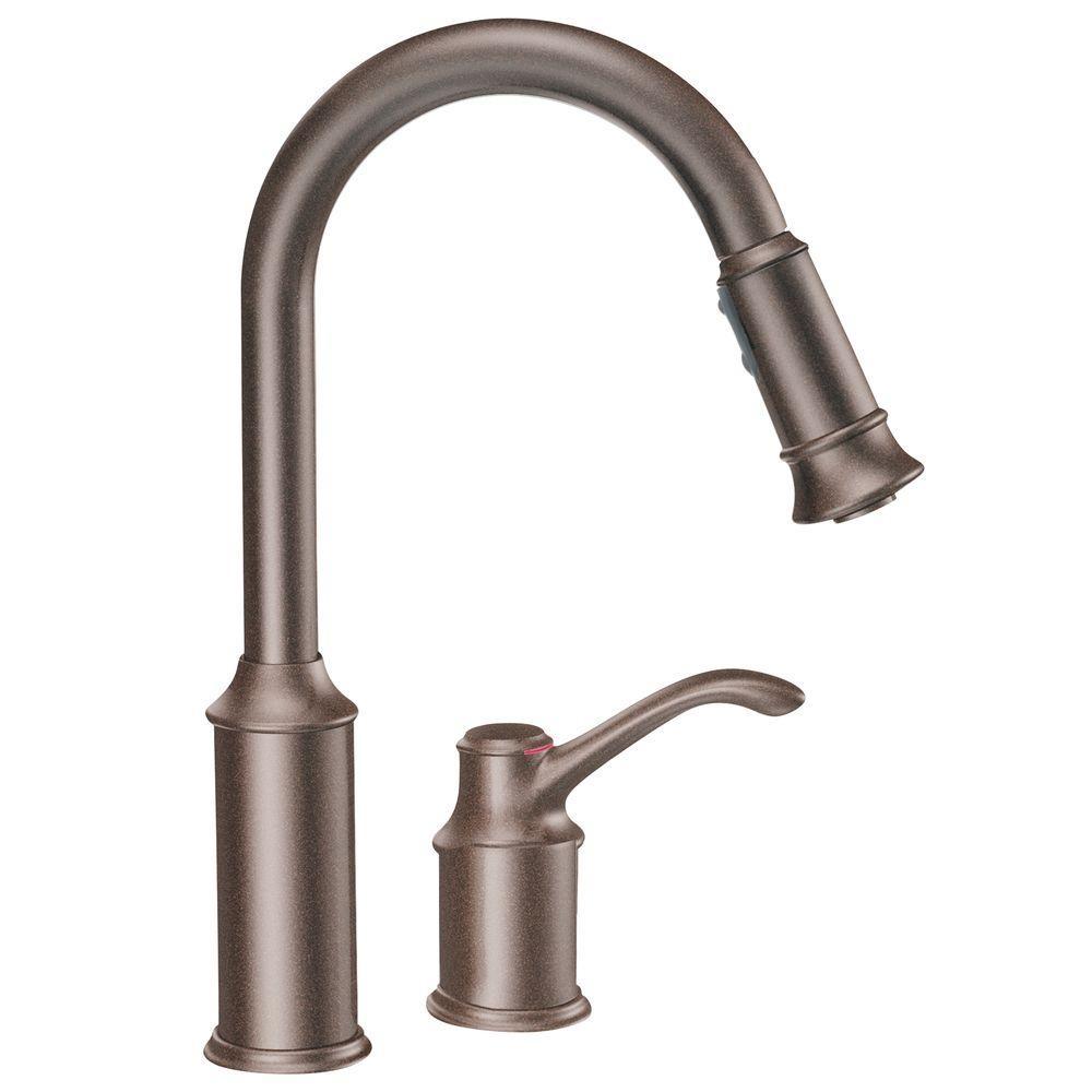 Ideas, moen coil spring faucet moen coil spring faucet moen aberdeen single handle pull down sprayer kitchen faucet with 1000 x 1000  .
