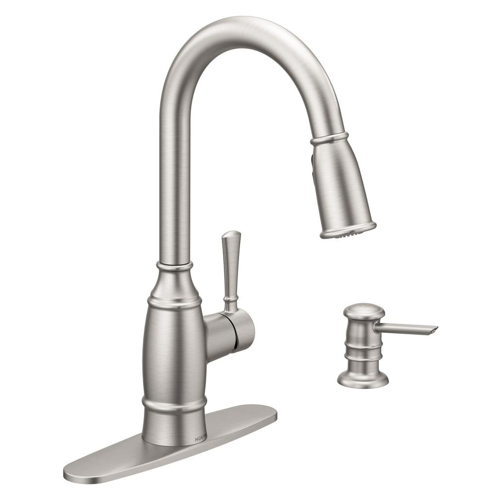 moen coil spring faucet moen coil spring faucet moen noell single handle pull down sprayer kitchen faucet with 1000 x 1000