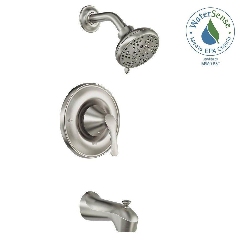 Ideas, moen danika shower faucet moen danika shower faucet moen darcy single handle 5 spray tub and shower faucet with valve 1000 x 1000  .