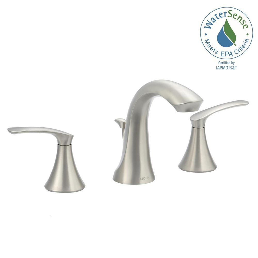 Ideas, moen darcy 8 in widespread 2 handle high arc bathroom faucet in for size 1000 x 1000  .