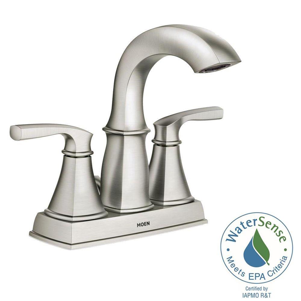 Ideas, moen darcy faucet 84550srn moen darcy faucet 84550srn moen darcy 4 in centerset 2 handle bathroom faucet in spot resist 1000 x 1000  .