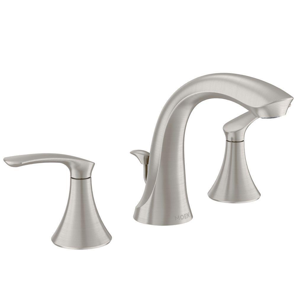 Ideas, moen darcy faucet brushed nickel moen darcy faucet brushed nickel moen darcy 8 in widespread 2 handle high arc bathroom faucet in 1000 x 1000  .
