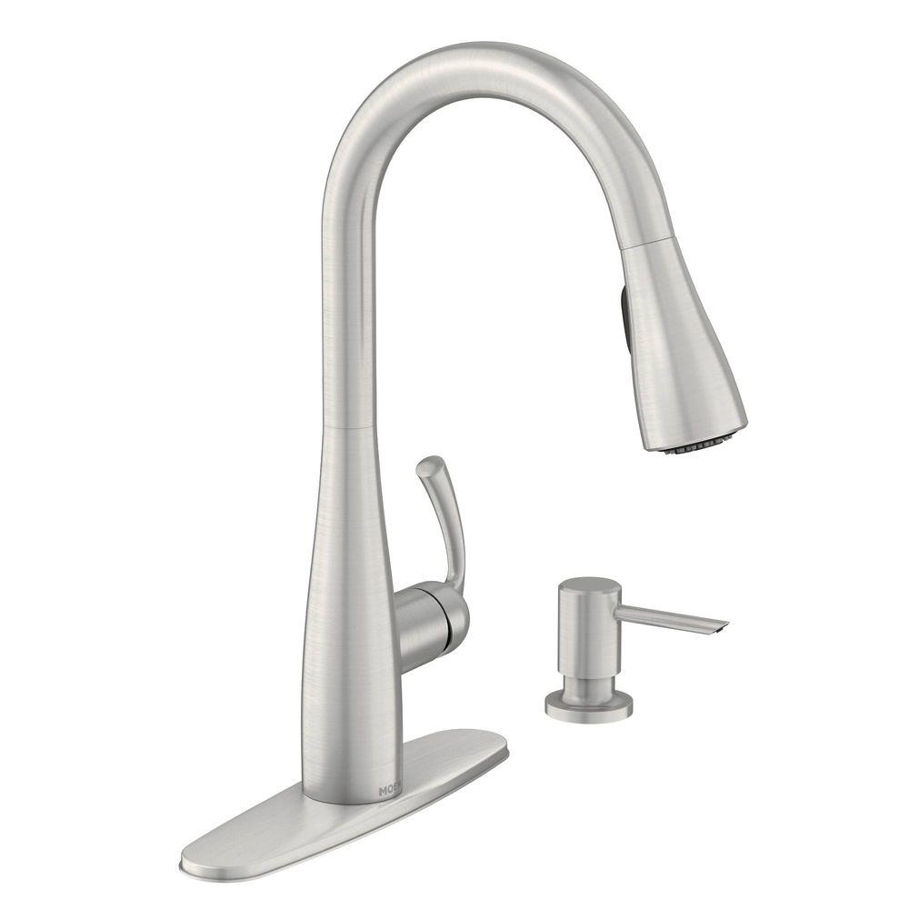Ideas, moen essie single handle pull down sprayer kitchen faucet with with measurements 1000 x 1000  .