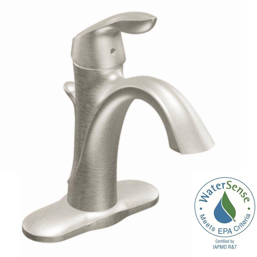 Ideas, moen eva single hole single handle high arc bathroom faucet in for size 1000 x 1000  .