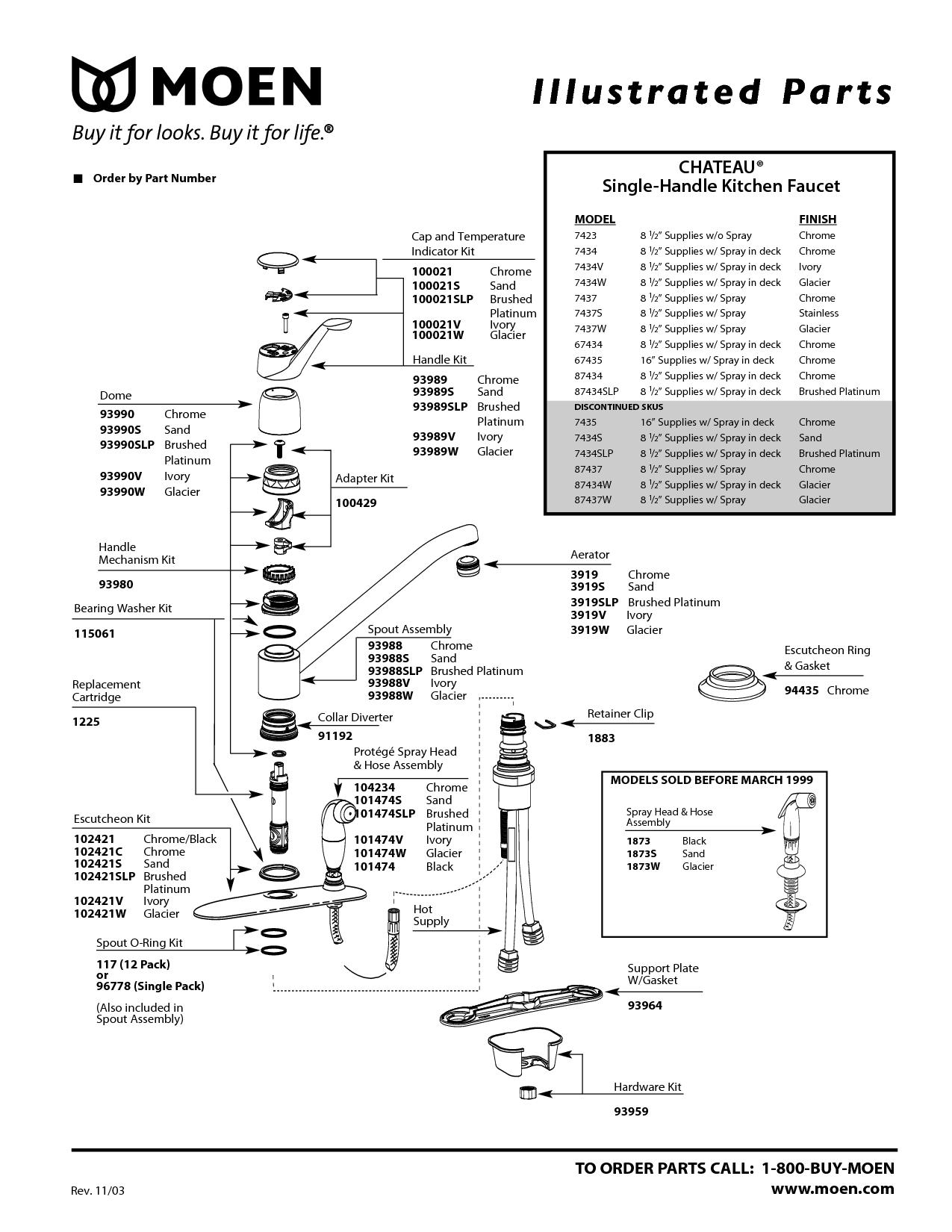 Moen Faucet 7400 Diagram