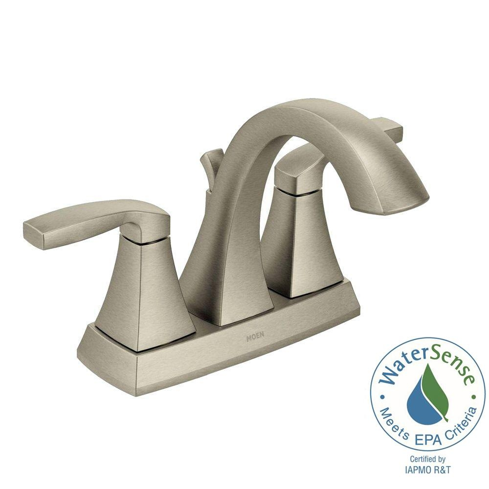 Ideas, moen gold and chrome bathroom faucets moen gold and chrome bathroom faucets moen voss 4 in centerset 2 handle bathroom faucet in brushed 1000 x 1000  .