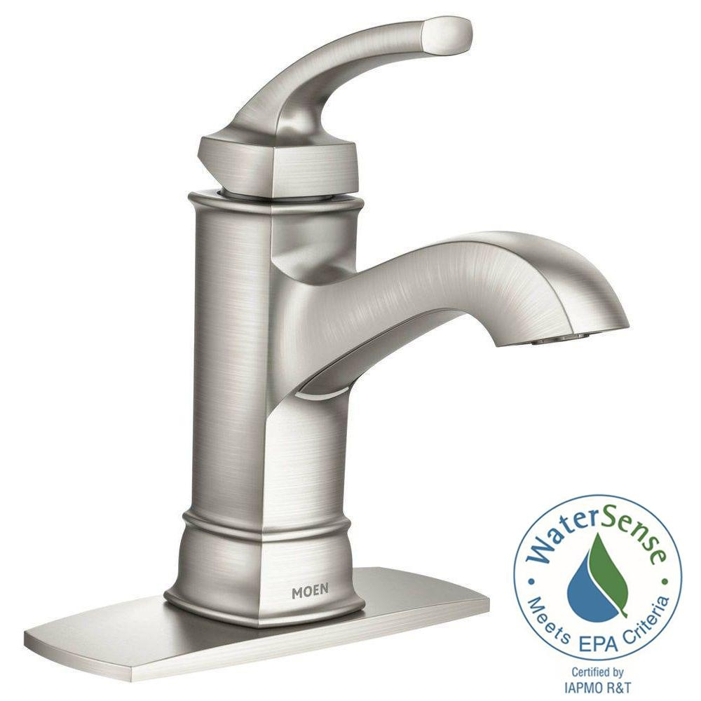 Ideas, moen hensley single hole 1 handle bathroom faucet featuring with dimensions 1000 x 1000  .