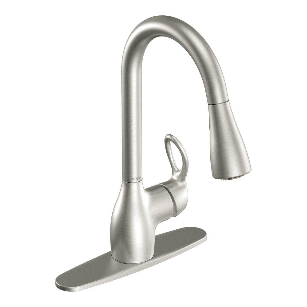 Ideas, moen kleo single handle pull down sprayer kitchen faucet with regarding size 1000 x 1000  .