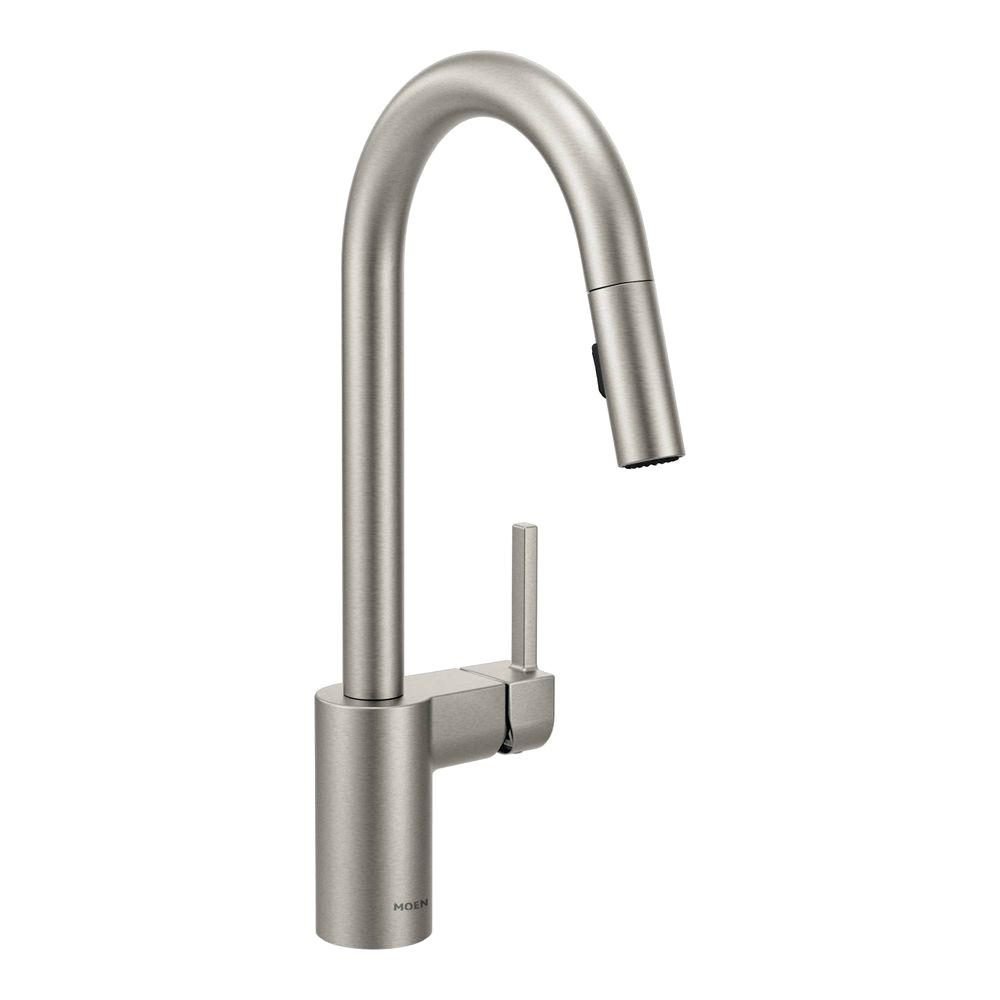 Ideas, moen kleo single handle pull down sprayer kitchen faucet with regarding sizing 1000 x 1000  .