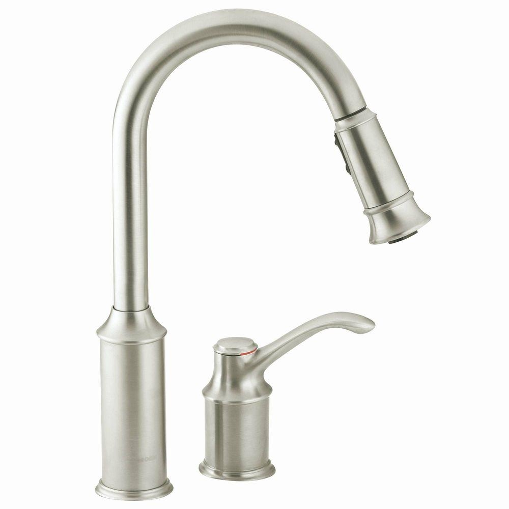 moen kleo single handle pull down sprayer kitchen faucet with with measurements 1000 x 1000