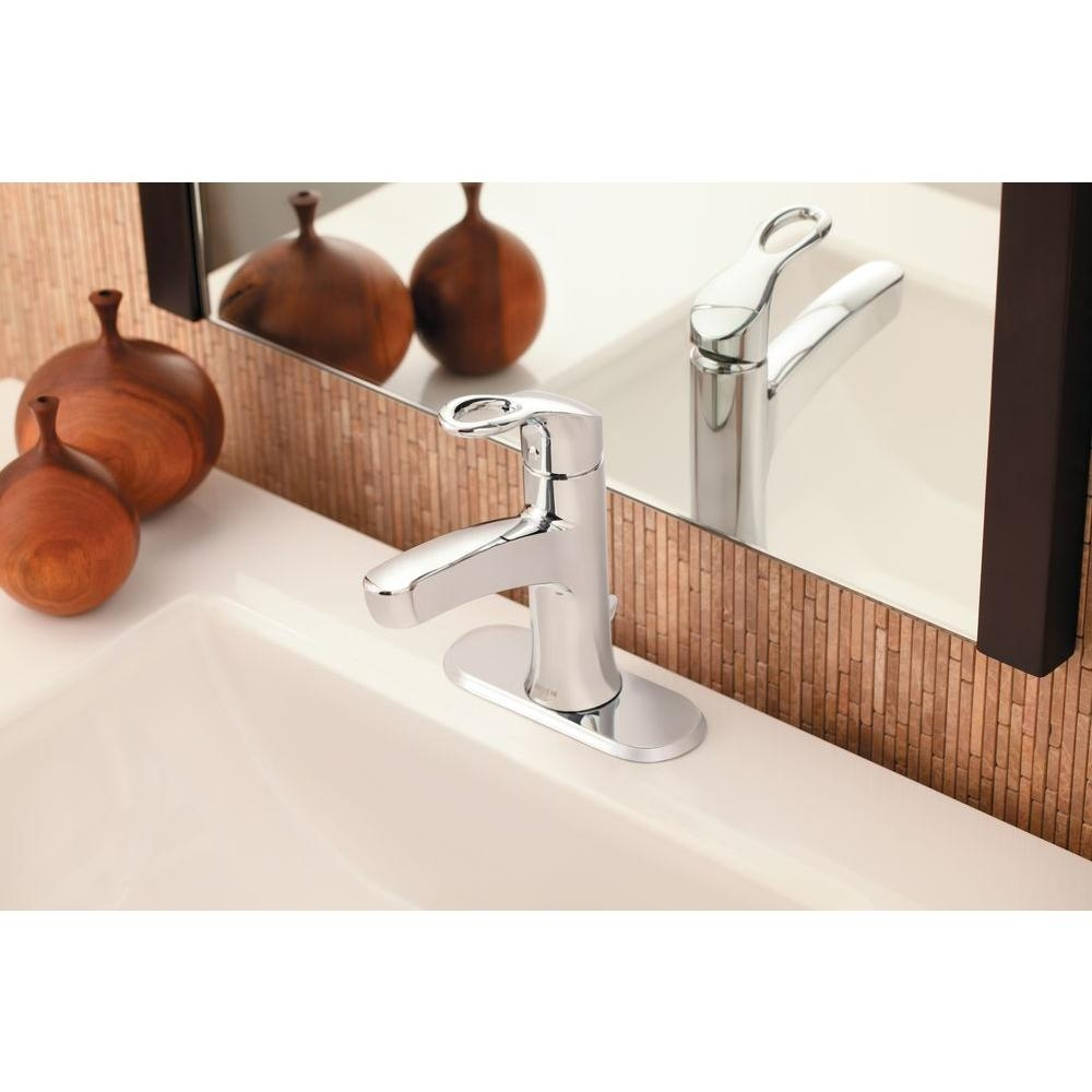 moen kleo single hole single handle mid arc bathroom faucet in intended for size 1000 x 1000