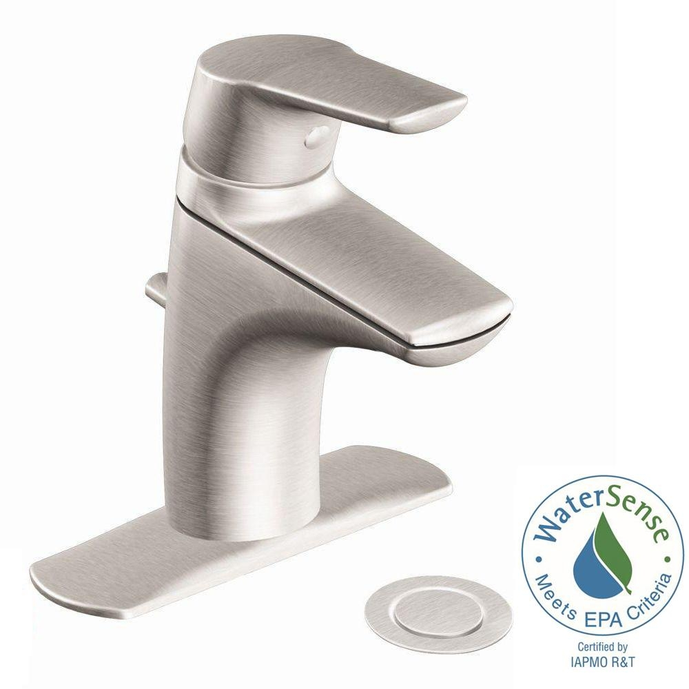 Ideas, moen method single hole single handle bathroom faucet in brushed for size 1000 x 1000  .