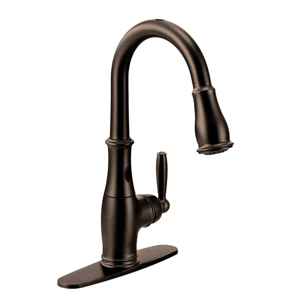 Ideas, moen motionsense kitchen faucet bronze moen motionsense kitchen faucet bronze moen brantford single handle pull down sprayer touchless kitchen 1000 x 1000  .