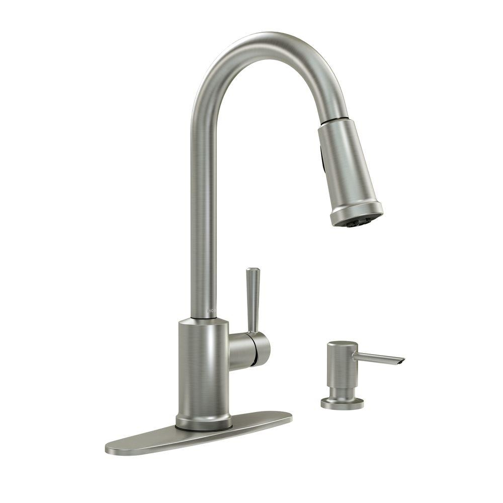 Ideas, moen pure touch kitchen faucet moen pure touch kitchen faucet moen renzo single handle pull out sprayer kitchen faucet in 1000 x 1000  .