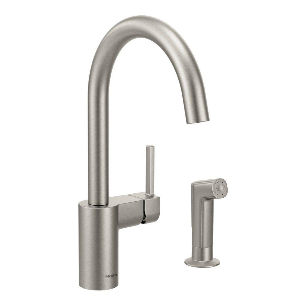 Ideas, moen torrance low arc single handle standard kitchen faucet with for size 1000 x 1000  .